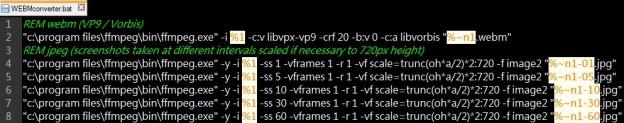 WebM Converter Batch File